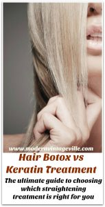Hair botox keratin treatment