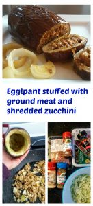 Easy, delicious and healthy recipe. In this recipe I stuffed eggplant with ground beef and turkey meats as well as shredded zucchini, but this recipe could be changed to anyone's preference.