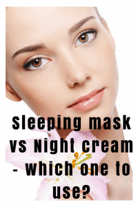 sleeping mask night cream what to use
