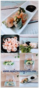 Delicious rice paper rolls made with shrimps, arugula, enoki mushrooms and avocado. You could also add some sliced pepper and cucumber. Serve with Hoisin sauce. Very light dish suitable for lunch or light supper.