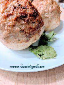 Turkey cucumber stuffed baked potato