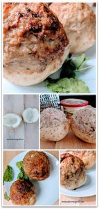 Easy, quick and yet very delicious recipe of baked potato stuffed with ground turkey, potato, and fresh cucumber. Can be served as a side dish or main course. Tastes best with sour cream.