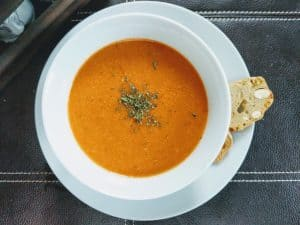 Easy Healthy Homemade Roasted Tomato soup with chicken broth recipe