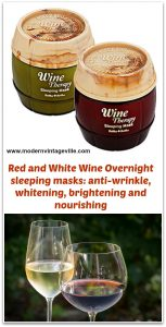 Red and White wine sleeping pack therapy anti-wrinkle whitening
