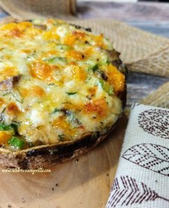 Portobello Mushrooms with Cheese recipe