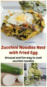 Unusual and fun way to cook zucchini noodles