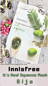 Innisfree mask review: Innisfree It's real squeeze mask bija. One of many wornderful face masks by innisfree that provides hydration and affordable to all.