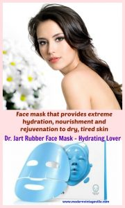 Skin hydration is one of the most important steps in skin care routine. Dr. Jart Rubber Mask Moist Lover provides boost in hydration and even minimizes fine lines and wrinkles.