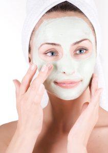 Green tea mask facia