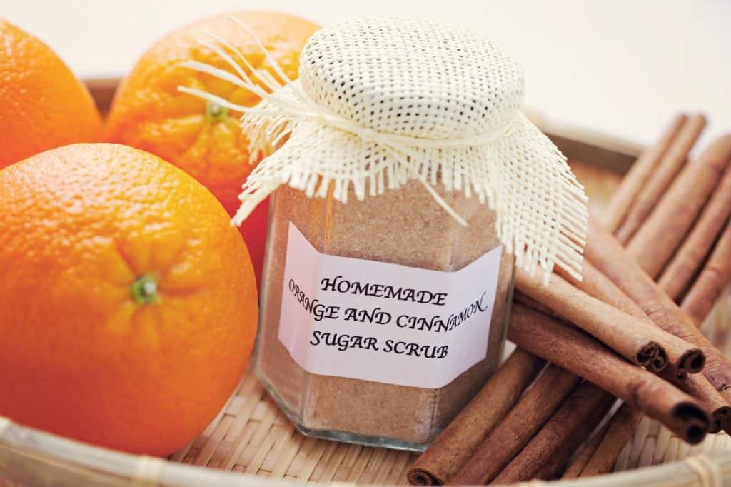 diy sugar scrub orange and cinnamon sugar scrub, sugar scrub recipe