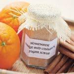 diy sugar scrub orange and cinnamon sugar scrub - beauty treatment