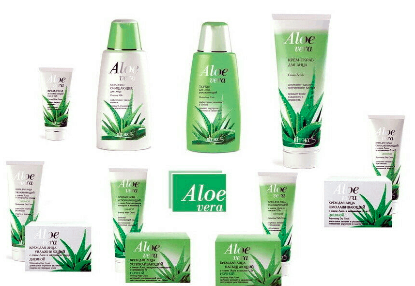 cream and lotions with aloe vera