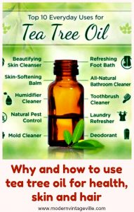 Tea tree oil has many benefits for our skin, hair and overall health. Read how you can clear acne and acne scars using tea tree oil; how to minimize tooth pain and remove foot odour.
