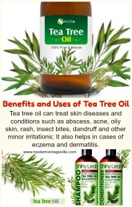 Tea tree oil for hair and skin
