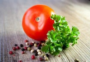 parsley and tomato anti aging food