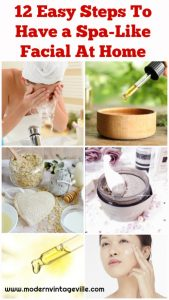 """If you ever wondered how to do facial at home by yourself - this post is for you. This """"how to do facial at home step by step"""" guide is everything you need to pamper yourself and do a home facial for glowing skin."""